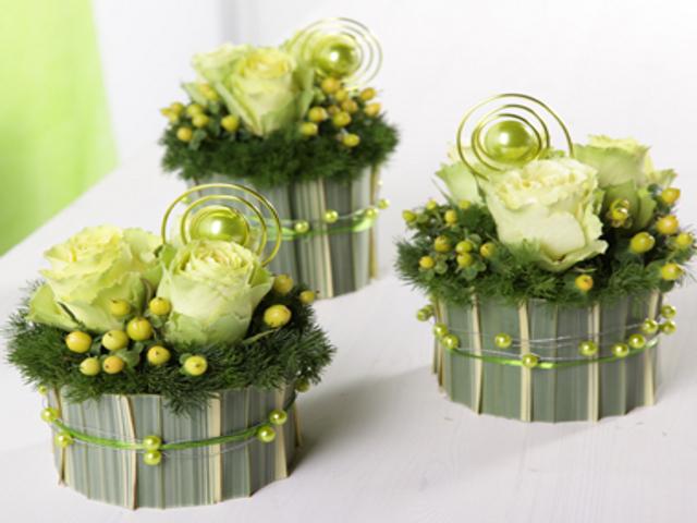 Compositions florales pour le bapt me boyer p piniere - Petites compositions florales pour table ...